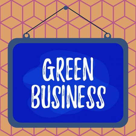 Conceptual hand writing showing Green Business. Concept meaning company that does not make negative impact on the environment Asymmetrical uneven shaped pattern object multicolour design Stock Photo - 140524798