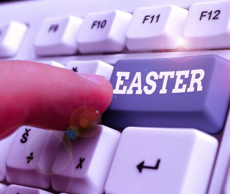 Text sign showing Easter. Business photo showcasing the most important and oldest festival of the Christian Church