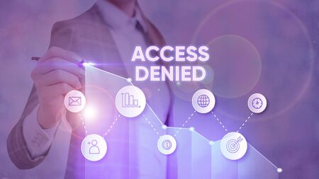Text sign showing Access Denied. Business photo text error message shown when you do not have access rights