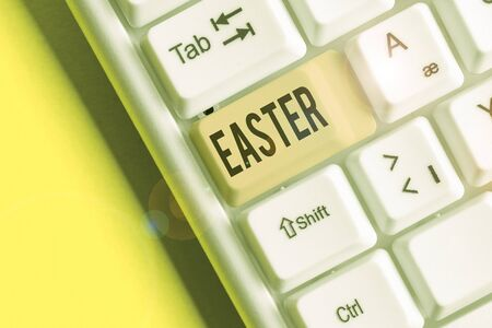 Handwriting text Easter. Conceptual photo the most important and oldest festival of the Christian Church
