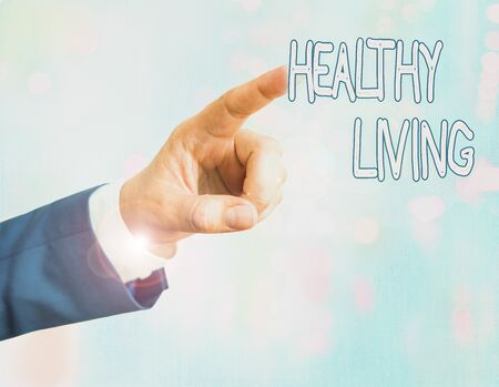 Handwriting text writing Healthy Living. Conceptual photo way of living that lowers the risk of being seriously ill