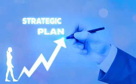 Text sign showing Strategic Plan. Business photo text analysisagement activity that is used to set and focus priorities