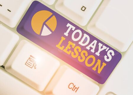 Word writing text Today S Is Lesson. Business photo showcasing ask assigned for individual study Something to be learned 版權商用圖片