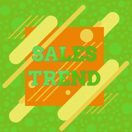 Handwriting text Sales Trend. Conceptual photo Composite data of a company s is annual sales and employment Asymmetrical uneven shaped format pattern object outline multicolour design