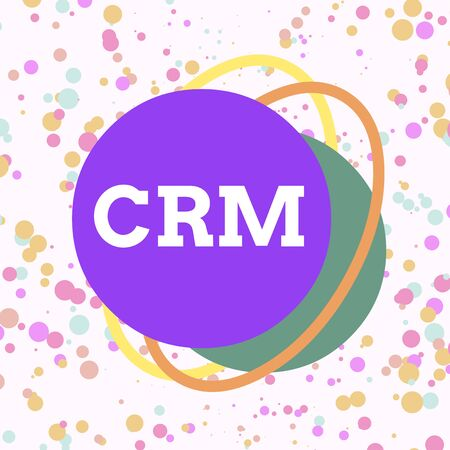 Word writing text Crm. Business photo showcasing Strategy for analysisaging the Affiliation Interactions of an organization Asymmetrical uneven shaped format pattern object outline multicolour design