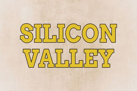 Writing note showing Silicon Valley. Business concept for home to analysisy startup and global technology companies