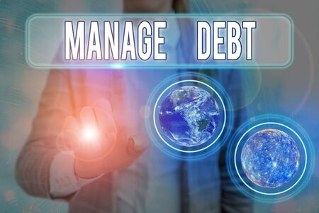 Text sign showing Manage Debt. Business photo text unofficial agreement with unsecured creditors for repayment