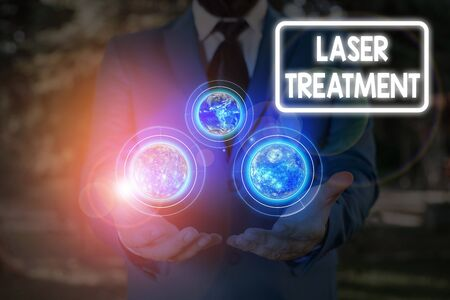 Handwriting text Laser Treatment. Conceptual photo any of various medical and surgical techniques using lasers