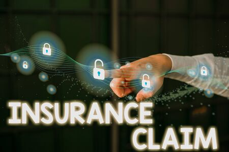 Writing note showing Insurance Claim. Business concept for coverage or compensation for a covered loss or policy event