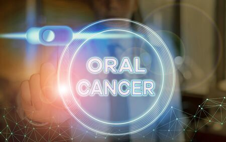 Word writing text Oral Cancer. Business photo showcasing the cancer of the lining of the lips mouth or upper throat