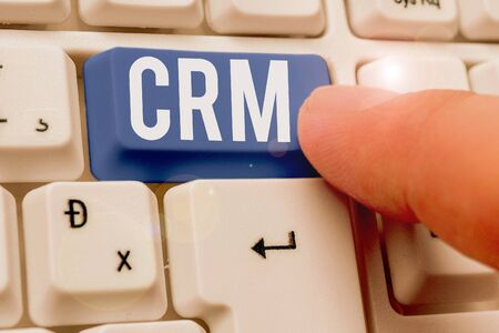 Word writing text Crm. Business photo showcasing Strategy for analysisaging the Affiliation Interactions of an organization