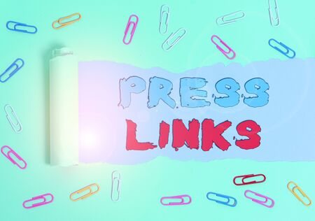 Conceptual hand writing showing Press Links. Concept meaning intended to manipulate a site s is ranking in Google search Stock Photo