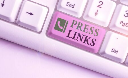 Word writing text Press Links.