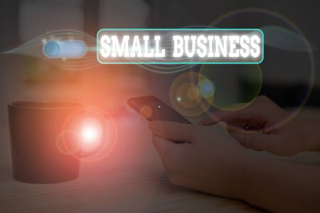 Conceptual hand writing showing Small Business. Concept meaning privately owned corporations that has less employees Stockfoto