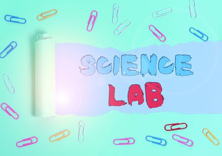 Conceptual hand writing showing Science Lab. Concept meaning special facility where experiments are done and with equipment