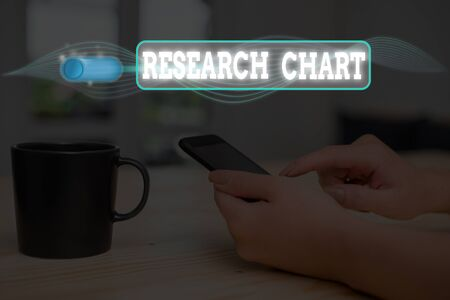 Conceptual hand writing showing Research Chart. Concept meaning it represents a set of numerical or qualitative data Reklamní fotografie
