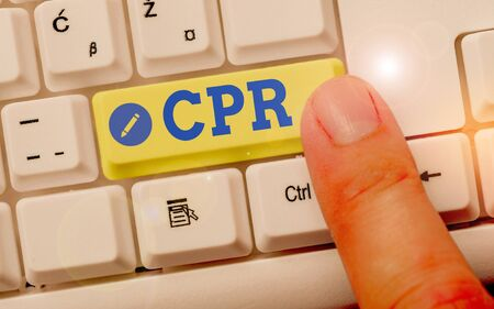 Handwriting text Cpr. Conceptual photo cardiopulmonary resuscitation Method used to keep someone alive Stok Fotoğraf