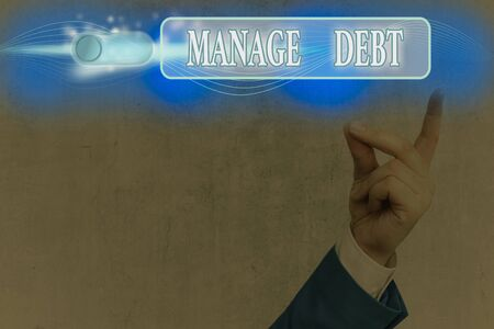 Word writing text Manage Debt. Business photo showcasing unofficial agreement with unsecured creditors for repayment