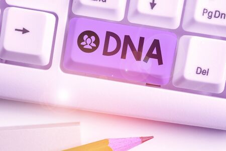 Word writing text Dna. Business photo showcasing a selfreplicating material wpresent in nearly all living organisms