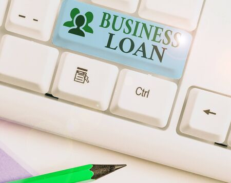 Text sign showing Business Loan. Business photo text Loans provided to small businesses for various purposes