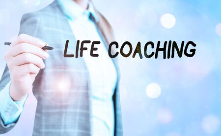 Conceptual hand writing showing Life Coaching. Concept meaning a demonstrating employed to help showing attain their goals in life Stock Photo
