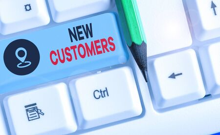 Word writing text New Customers. Business photo showcasing an entity that has not previously purchased one goods
