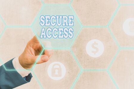 Word writing text Secure Access. Business photo showcasing enhance the security and cryptography performance in devices