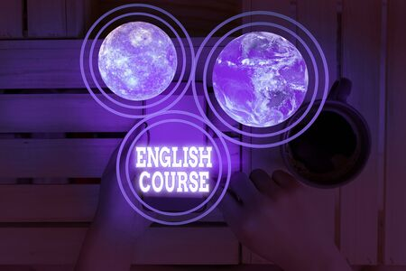 Conceptual hand writing showing English Course. Concept meaning courses cover all levels of speaking and writing in english 免版税图像