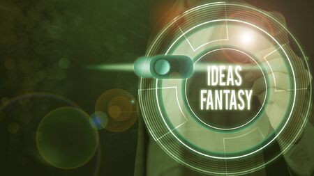 Text sign showing Ideas Fantasy. Business photo text Situation that someone creates from their imagination