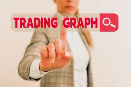 Word writing text Trading Graph. Business photo showcasing Represent the highs and lows of the trading period and price Stock fotó