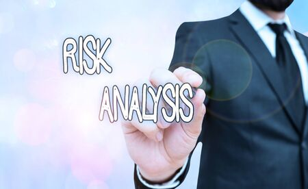 Handwriting text Risk Analysis. Conceptual photo review of the risks associated with a particular event