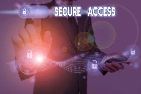 Conceptual hand writing showing Secure Access. Concept meaning enhance the security and cryptography performance in devices 版權商用圖片