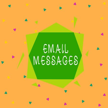 Handwriting text Email Messages. Conceptual photo a messages that has been sent using electronic mail Asymmetrical uneven shaped format pattern object outline multicolour design