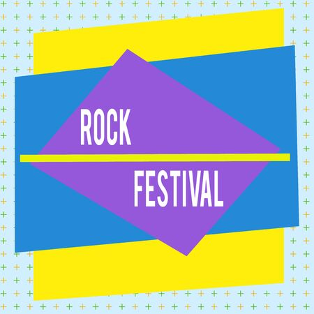 Handwriting text writing Rock Festival. Conceptual photo Largescale rock music concert featuring heavy metals genre Asymmetrical uneven shaped format pattern object outline multicolour design 版權商用圖片