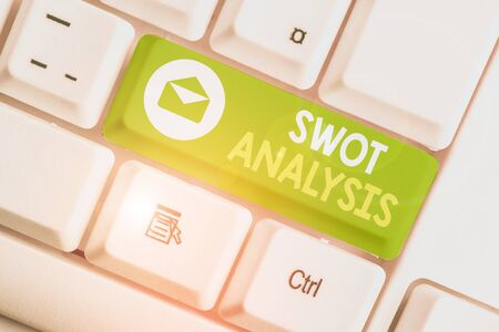 Handwriting text Swot Analysis. Conceptual photo framework used to evaluate a company competitive position
