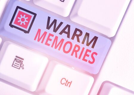 Handwriting text Warm Memories. Conceptual photo Something that you remember with pleasure Sweet reminiscences Stock Photo