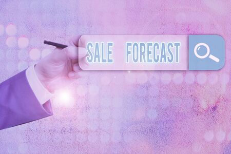 Conceptual hand writing showing Sale Forecast. Concept meaning the process of estimating future transactions or deals