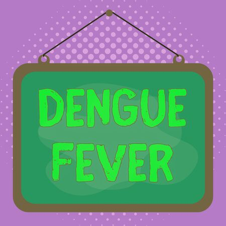 Conceptual hand writing showing Dengue Fever. Concept meaning infectious disease caused by a flavivirus or aedes mosquitoes Asymmetrical uneven shaped pattern object multicolour design