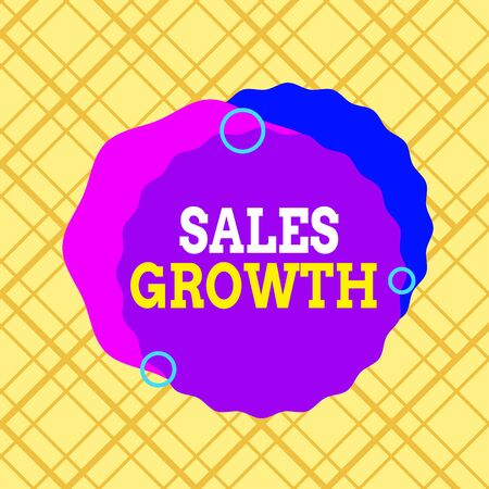 Writing note showing Sales Growth. Business concept for ability to increase revenue over a fixed period of time Asymmetrical format pattern object outline multicolor design