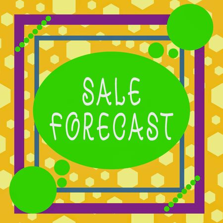 Handwriting text writing Sale Forecast. Conceptual photo the process of estimating future transactions or deals Asymmetrical uneven shaped format pattern object outline multicolour design 版權商用圖片