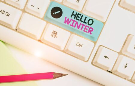 Handwriting text Hello Winter. Conceptual photo coldest season of the year in polar and temperate zones
