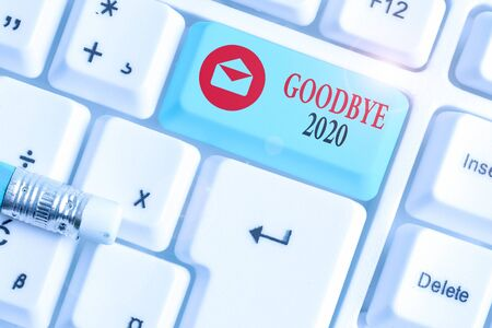 Text sign showing Good Bye 2020. Business photo text express good wishes when parting or at the end of last year Standard-Bild - 142215584