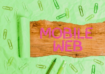 Handwriting text writing Mobile Web. Conceptual photo browserbased internet services accessed from handheld mobile