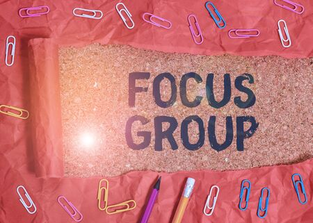 Handwriting text Focus Group. Conceptual photo showing assembled to participate in discussion about something Stock Photo