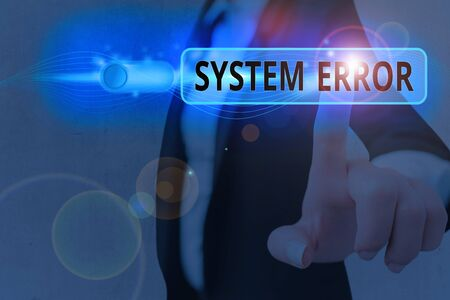 Conceptual hand writing showing System Error. Concept meaning instruction that is not recognized by an operating system