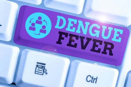 Handwriting text writing Dengue Fever. Conceptual photo infectious disease caused by a flavivirus or aedes mosquitoes