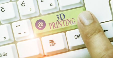 Text sign showing 3D Printing. Business photo showcasing making a physical object from a threedimensional digital model