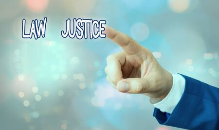 Handwriting text writing Law Justice. Conceptual photo a scheme or system of law in which every demonstrating receives