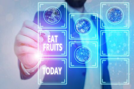 Handwriting text Eat Fruits. Conceptual photo consume any product of plant growth useful to humans or animals