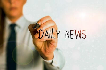 Word writing text Daily News. Business photo showcasing information or reports about recent events published everyday